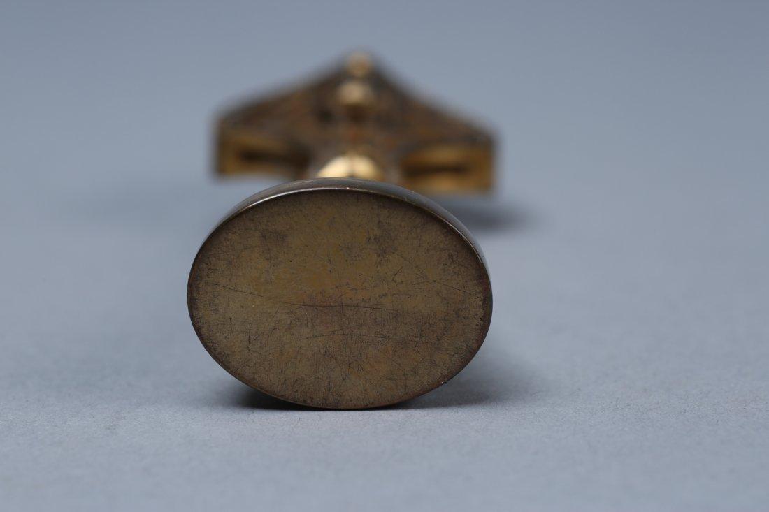 Art Deco Solid Brass Wax Seal - 4