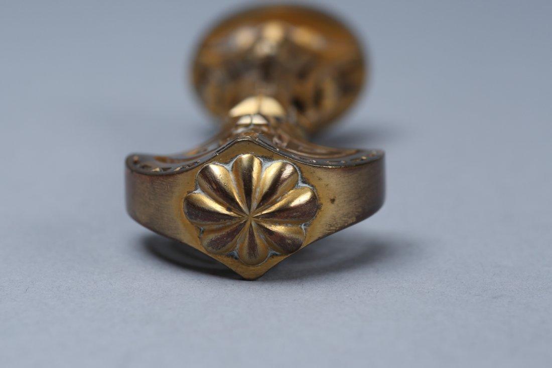 Art Deco Solid Brass Wax Seal - 5