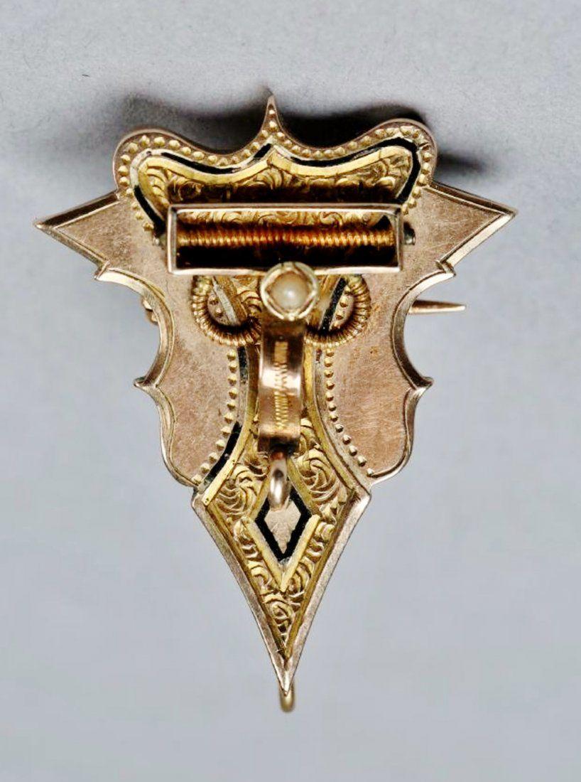 Victorian 14K Gold Pendant Brooch