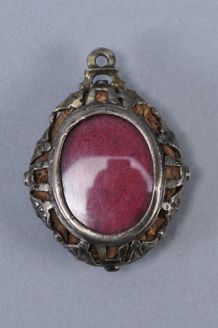 18th Century Painted Portrait Hair work Locket - 2