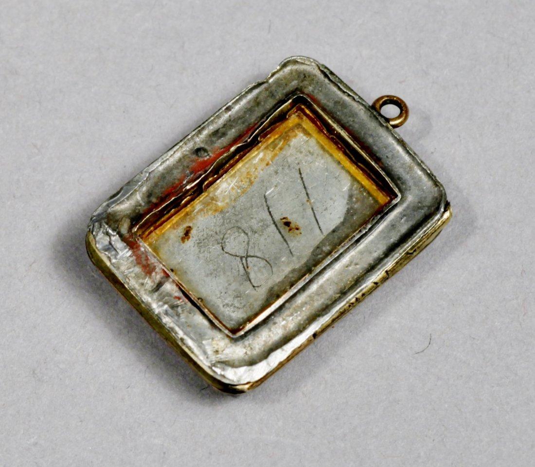 Victorian 12 k Agate stone, Plus Onyx Pendant - 5
