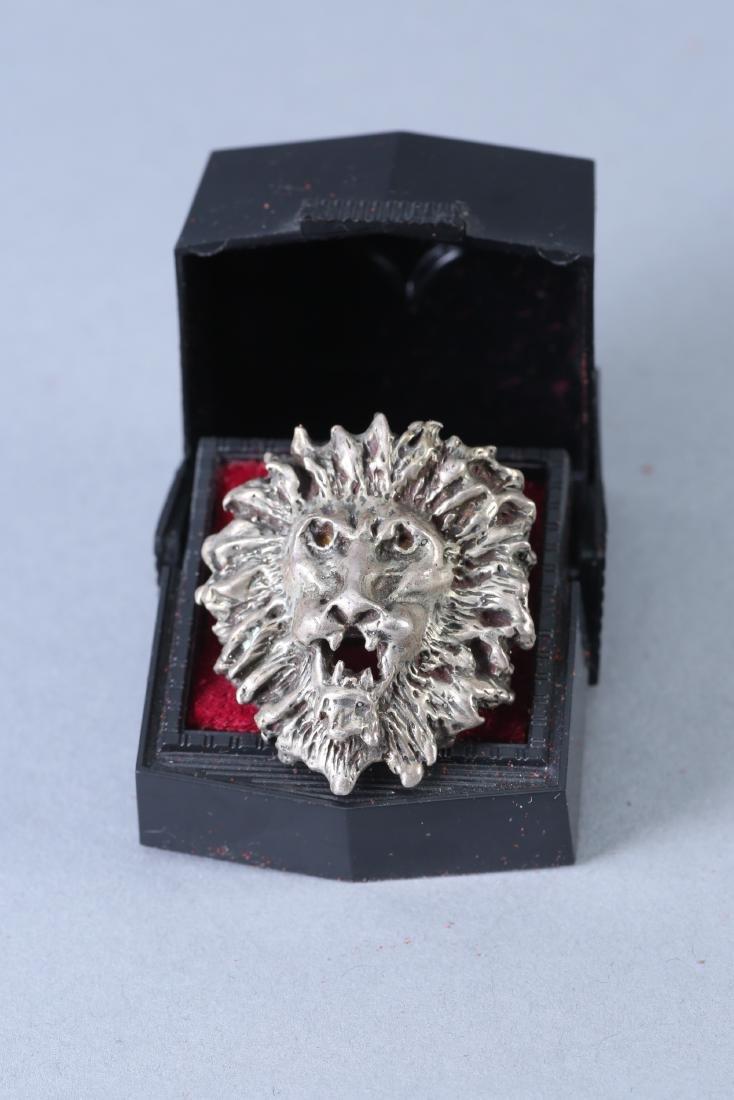 Roaring Lion Vintage Designer Sterling Ring