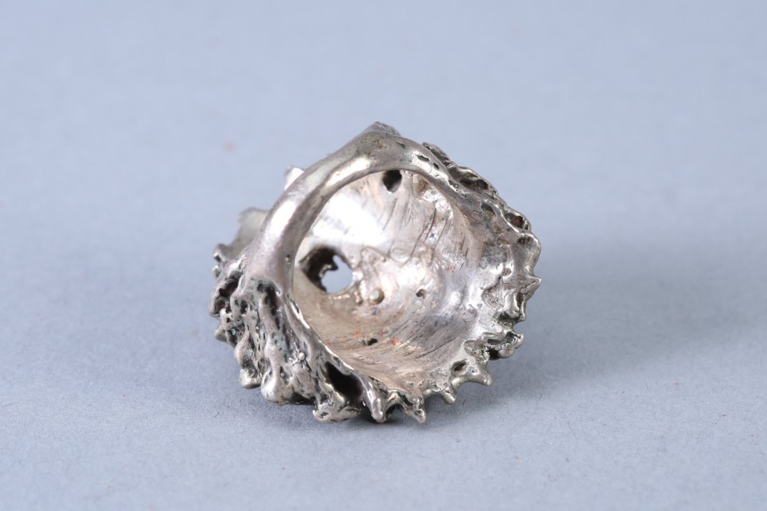 Roaring Lion Vintage Designer Sterling Ring - 2