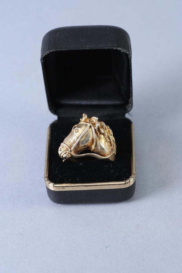 Large Horse Head Vintage Designer Sterling Ring