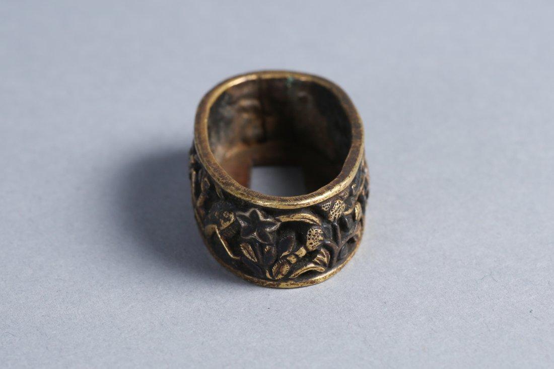 Edo Period Japanese Signed Fuchi, Fire Fly, Praying - 2