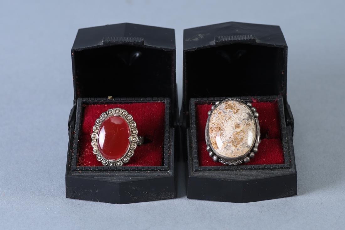 2 Vintage Sterling Rings