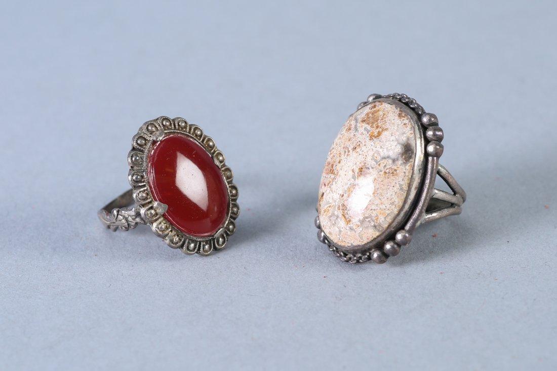 2 Vintage Sterling Rings - 2
