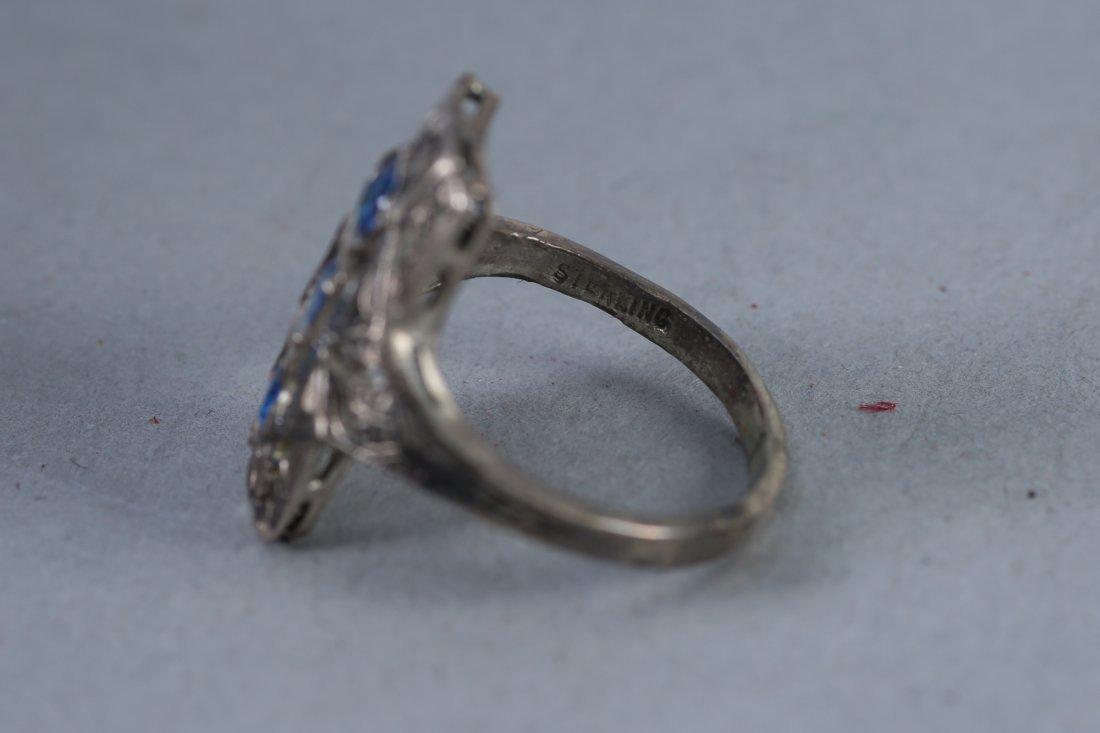 2 Beautiful Vintage Designer rings, Pink & Blue - 2