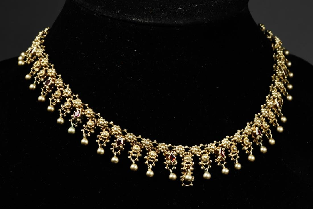 c1900 Austria/Hungary Sterling Cannetille Necklace