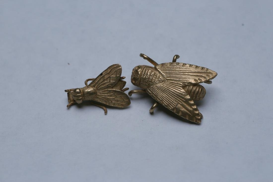 Victorian  Aesthetic Movement Style Flies 14K