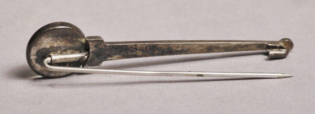 C1920 Scottie Dog Pin Brooch, Sterling - 3