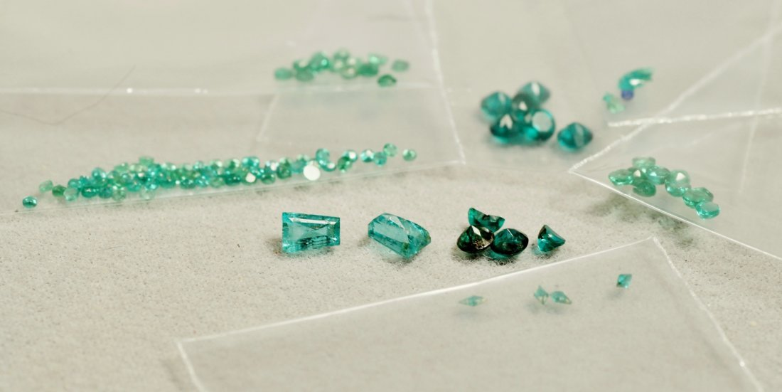 Lot of Various Faceted Emeralds