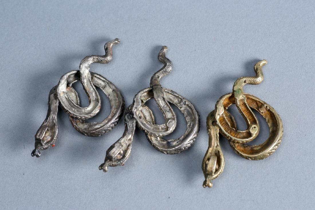 3 vintage pendant snakes by vintage designer sterling - 2