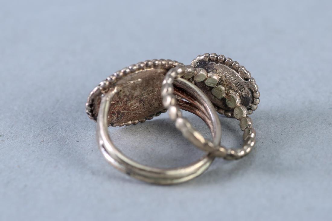 2 Vintage Sterling Horse Rings - 3