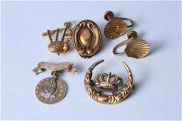 Vintage  Antique 10K Gold Jewelry Incl Odd Fellows