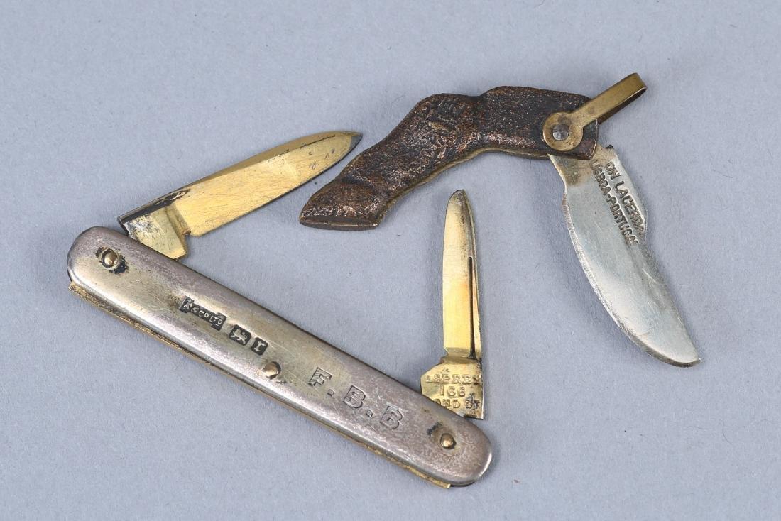 Vintage Lot Pocket Knives, Asprey & Novelty - 3