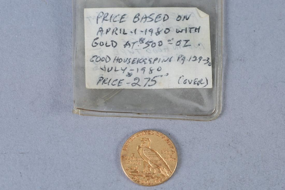 Gold Coin 1914 Indian Head $2.5 Gold Coin - 2