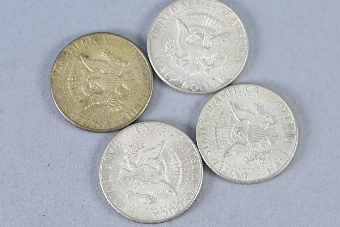 Lot of 4 Kennedy Half Dollars, Silver