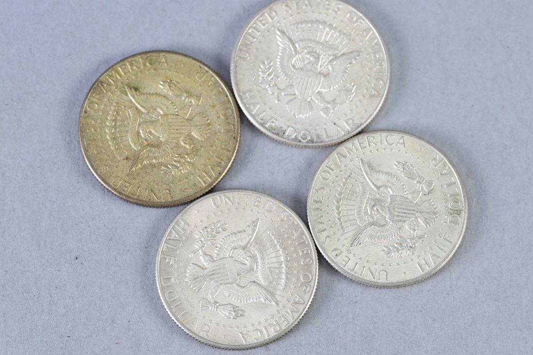 Lot of 4 Kennedy Half Dollars, Silver - 2