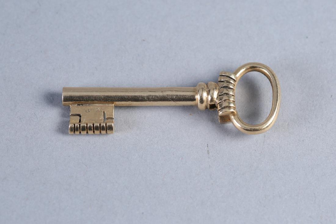 Antique 14K Gold Skeleton Key