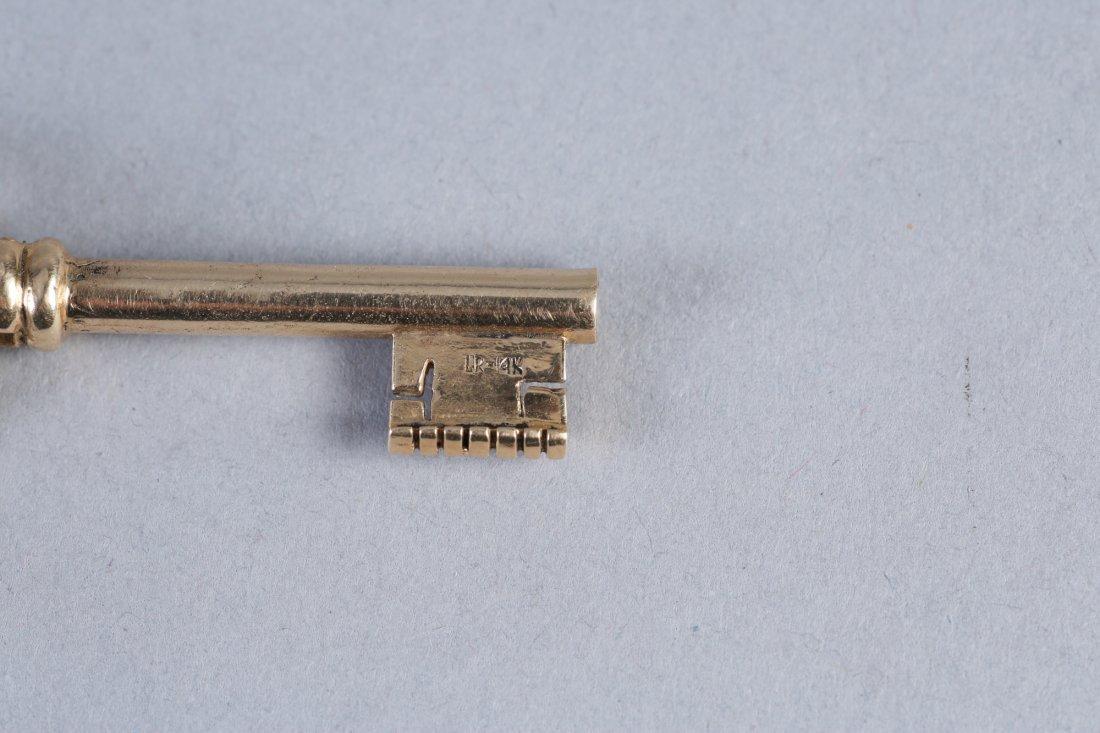 Antique 14K Gold Skeleton Key - 3