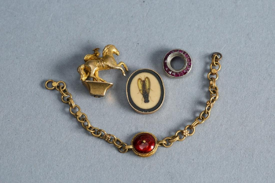 18k of Antique Gold Pieces, as found