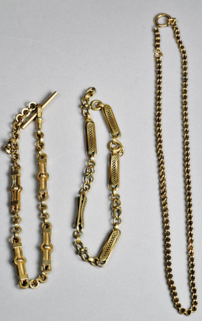 Antique Watch Chain Lot Victorian