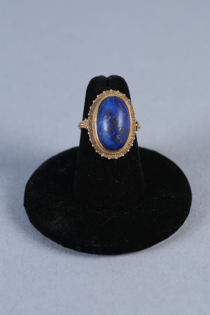 Vintage 18K Gold & Lapis Ring