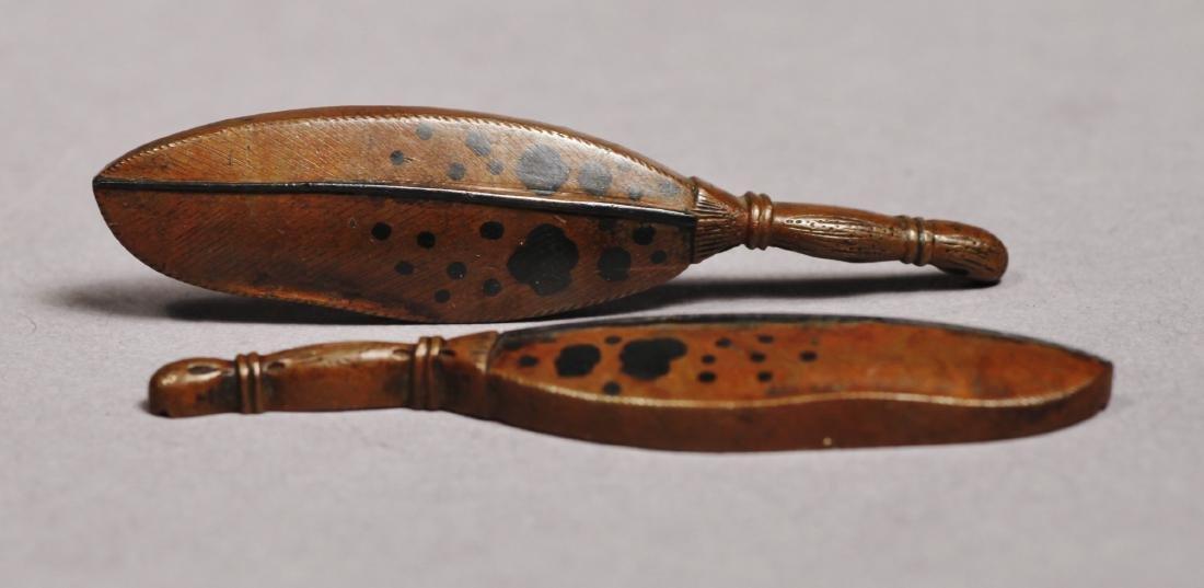 c1830 Kazuhide Ikeda Leaf or Feather Menuki