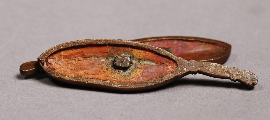 c1830 Kazuhide Ikeda Leaf or Feather Menuki - 6