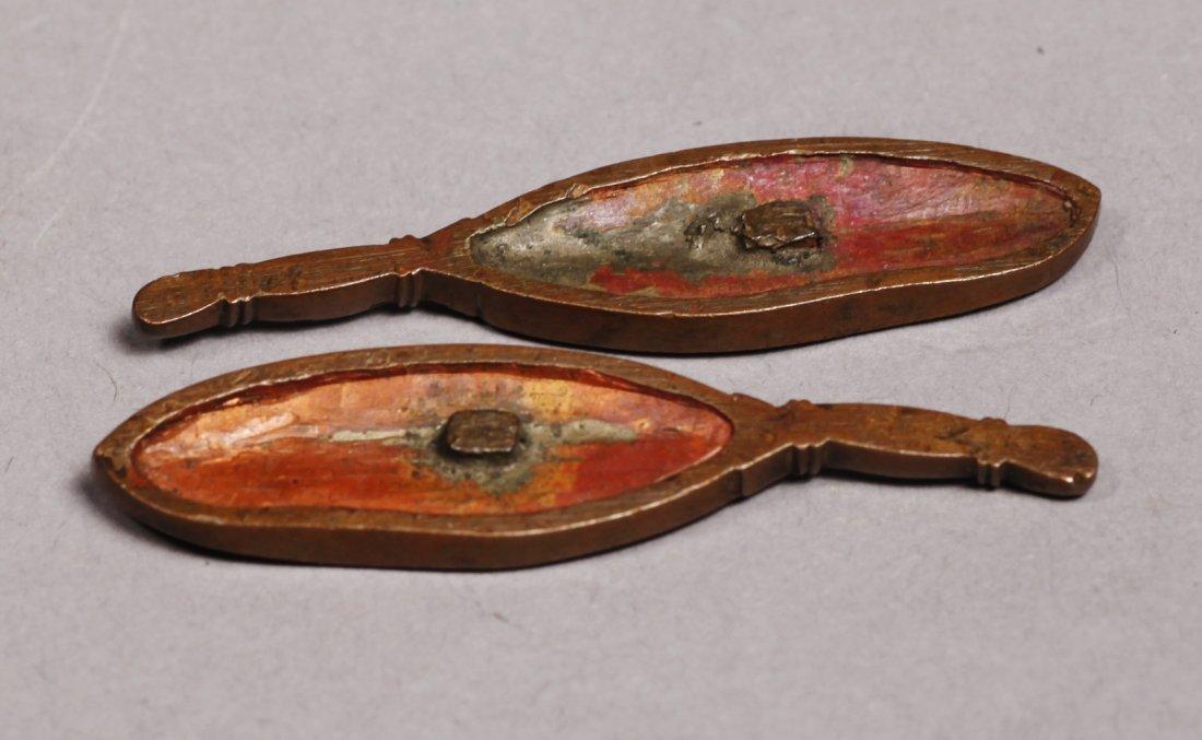 c1830 Kazuhide Ikeda Leaf or Feather Menuki - 7