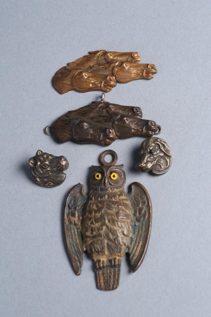 Misc Vintage/Antique Animal Medallions Menuki?