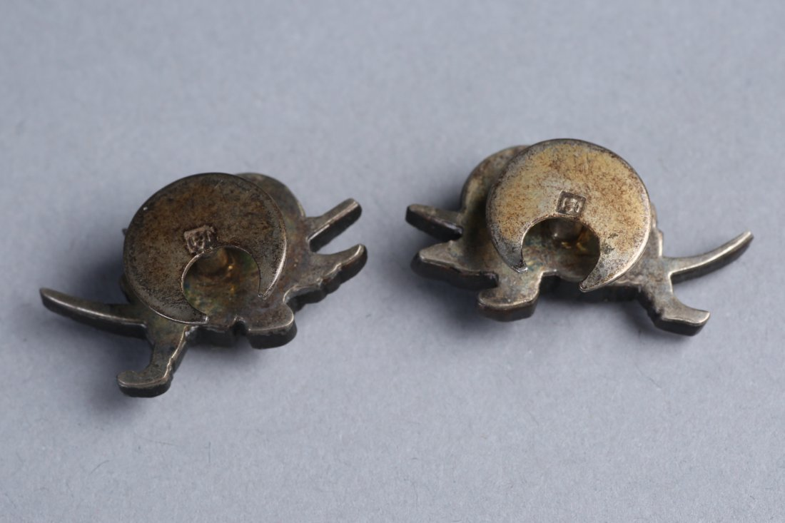 Antique Samurai Menuki Cufflinks - 2