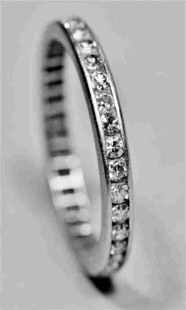 Vintage 1ct Tiffany Platinum Diamond Eternity Band