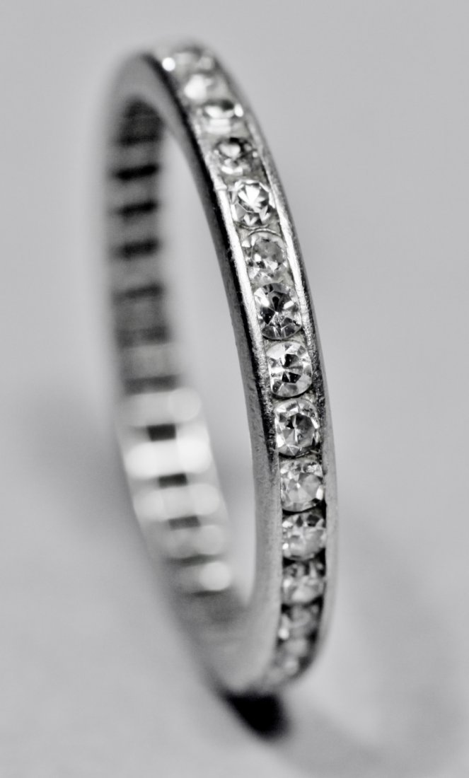 Vintage 1ct Tiffany Platinum Diamond Eternity Band