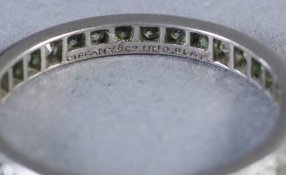 Vintage 1ct Tiffany Platinum Diamond Eternity Band - 3