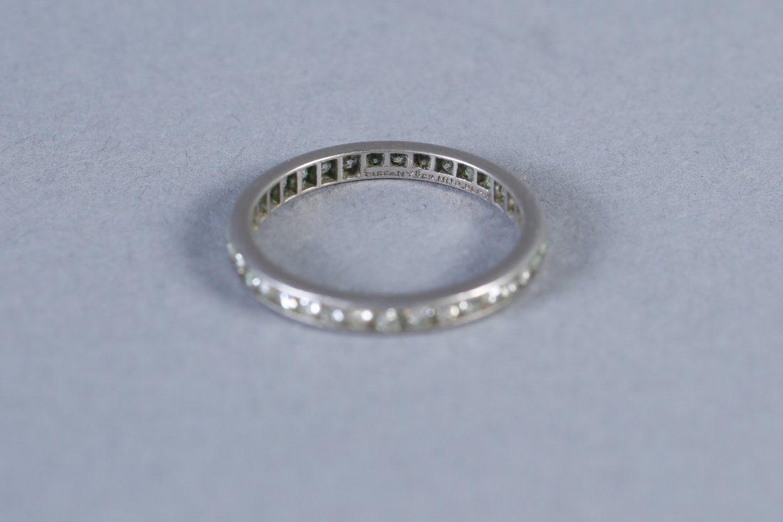Vintage 1ct Tiffany Platinum Diamond Eternity Band - 4
