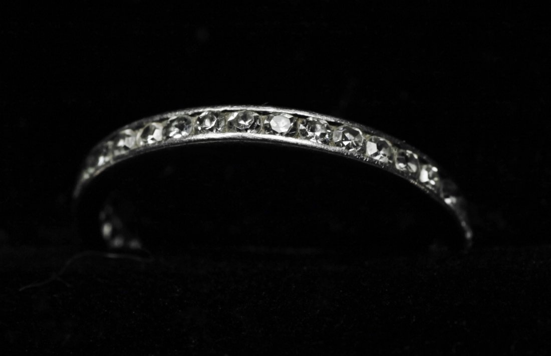 Vintage 1ct Tiffany Platinum Diamond Eternity Band - 6