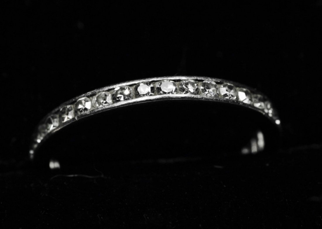 Vintage 1ct Tiffany Platinum Diamond Eternity Band - 7