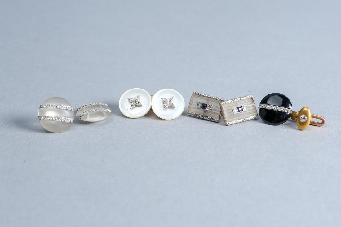 Palais Royal 18k And Others Art Deco  Button Diamond