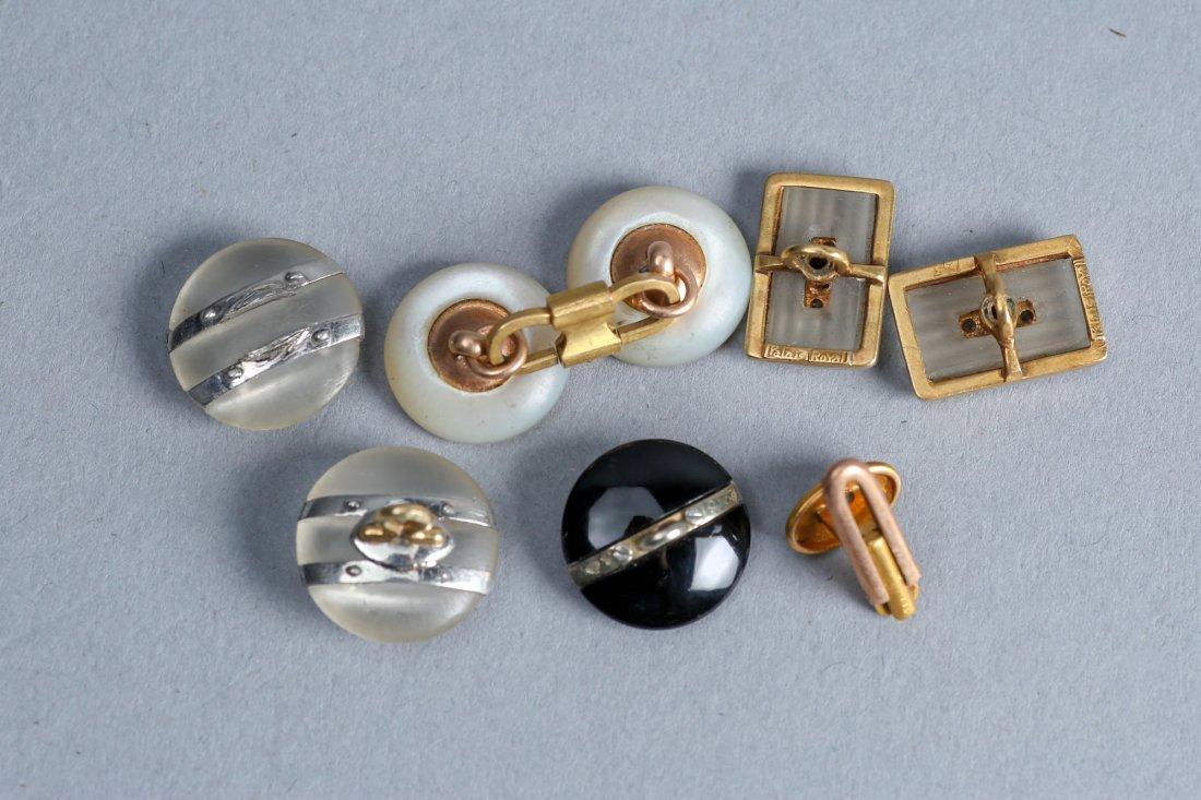Palais Royal 18k And Others Art Deco  Button Diamond - 2