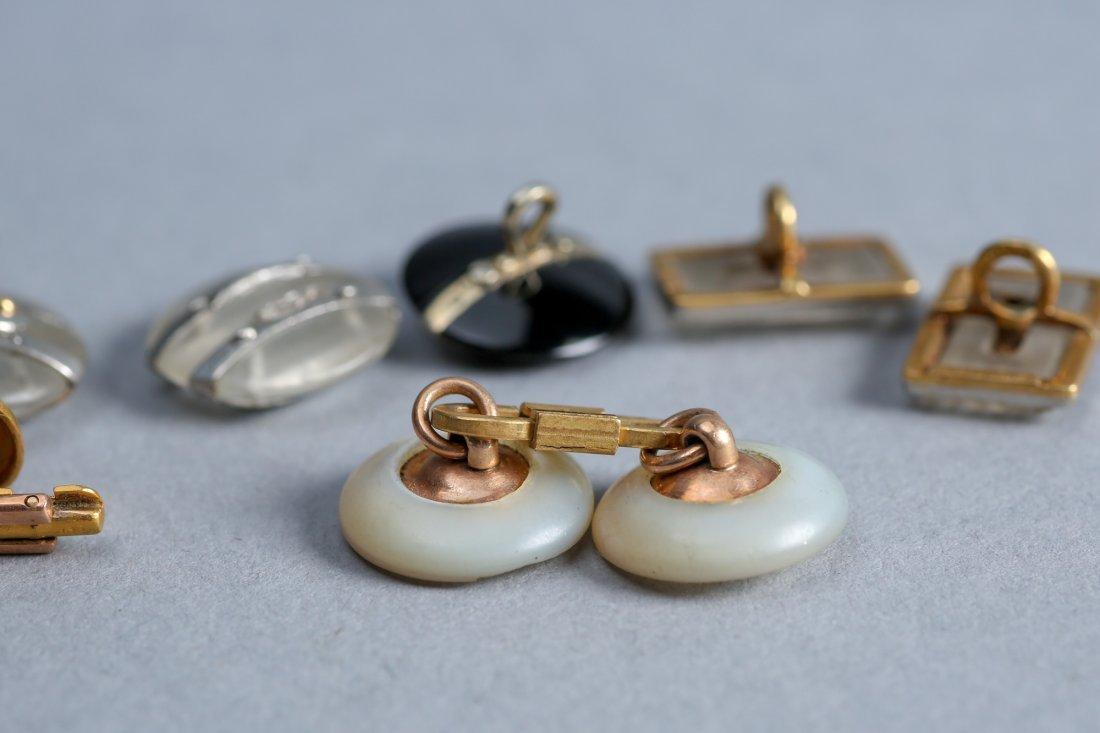 Palais Royal 18k And Others Art Deco  Button Diamond - 4