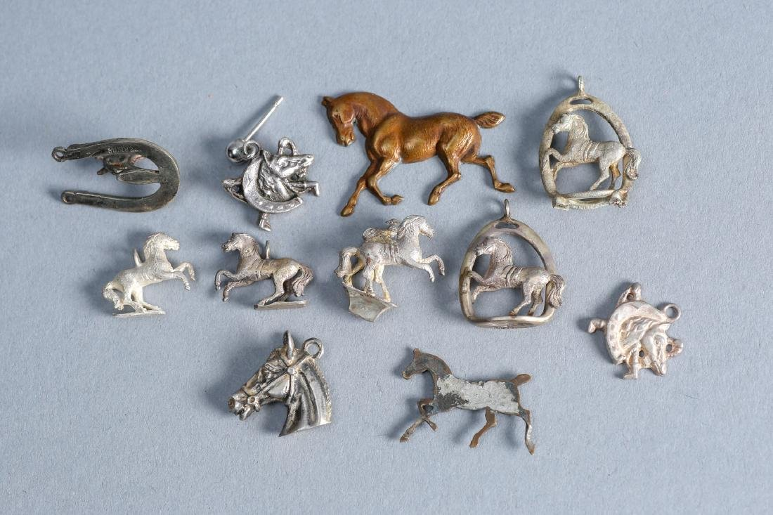Designer Lot Of Sterling Horse Charms