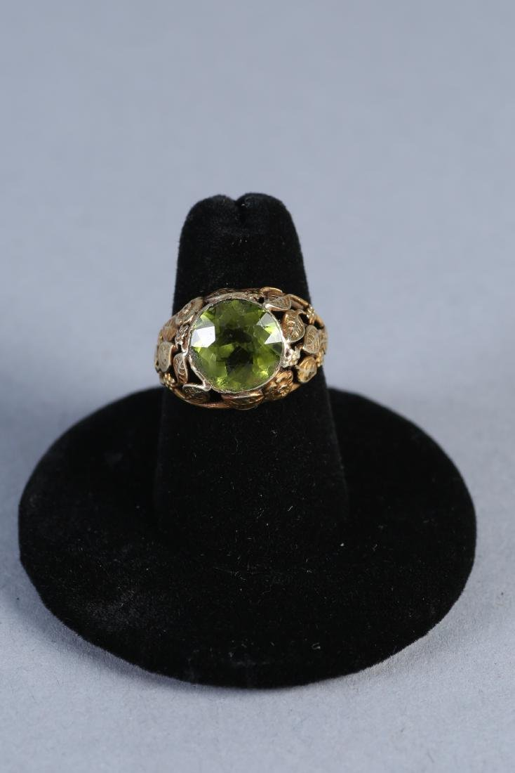 Vintage 14K Peridot Ring