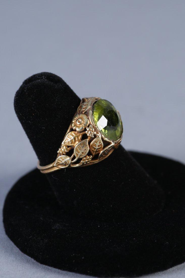Vintage 14K Peridot Ring - 3