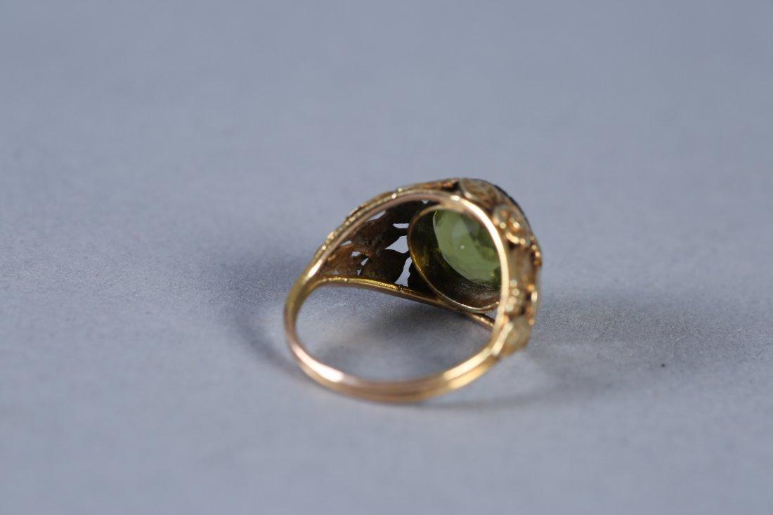 Vintage 14K Peridot Ring - 4
