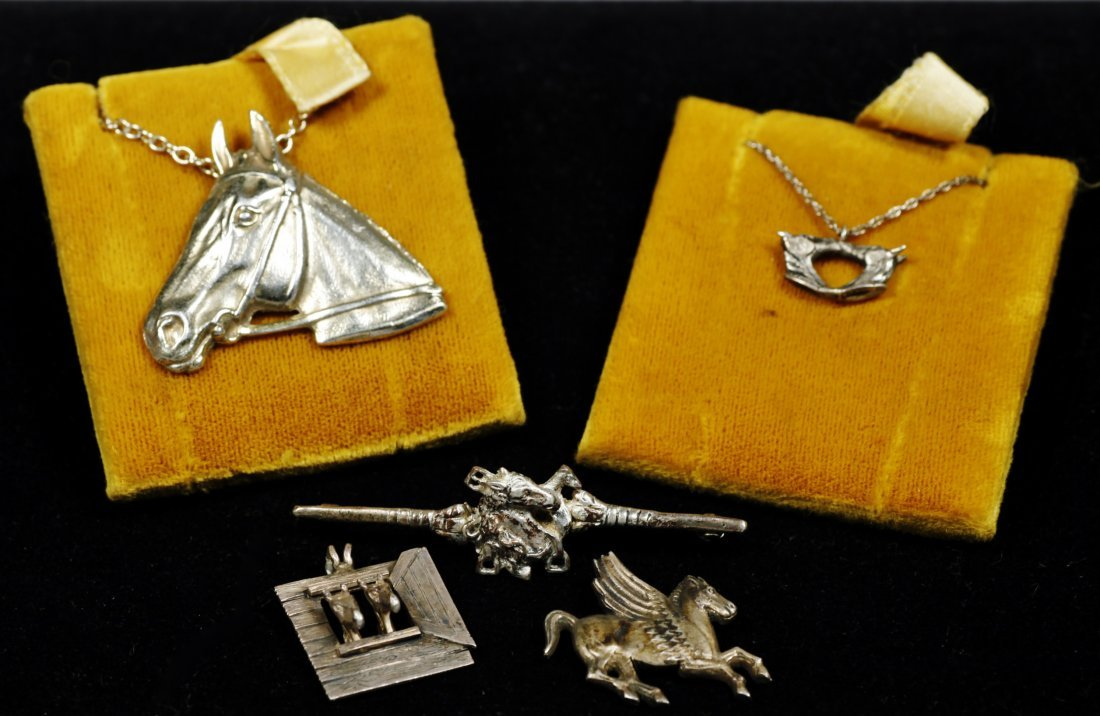 Mixed horse jewelry lot vintage designer sterling