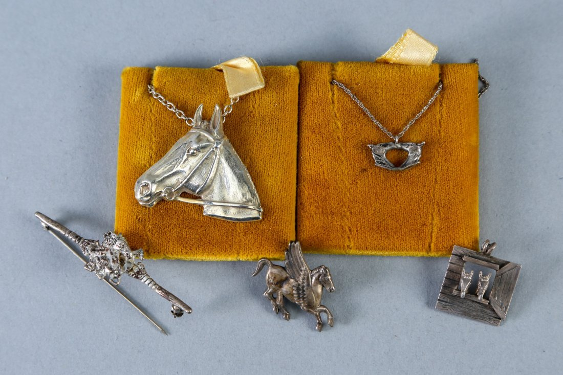 Mixed horse jewelry lot vintage designer sterling - 2