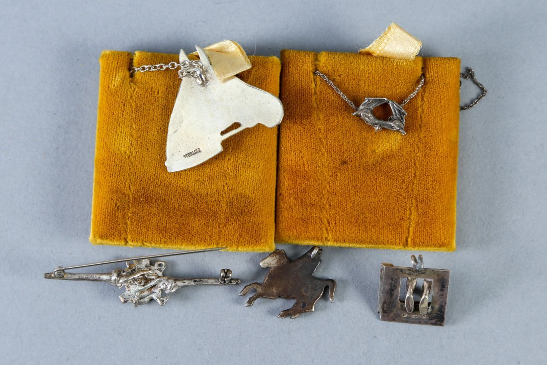 Mixed horse jewelry lot vintage designer sterling - 3