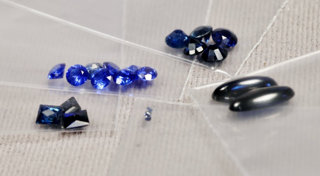 Vintage Lot Sapphires Various Sizes - 2